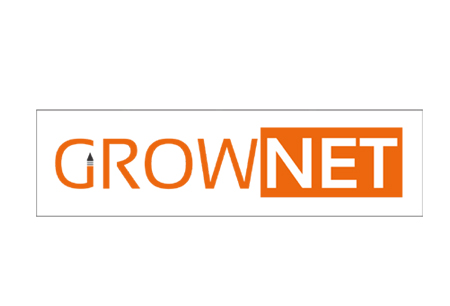 grow net logo design