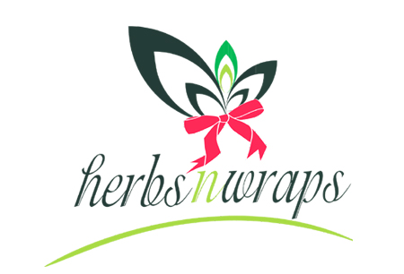 herbs n wraps logo design